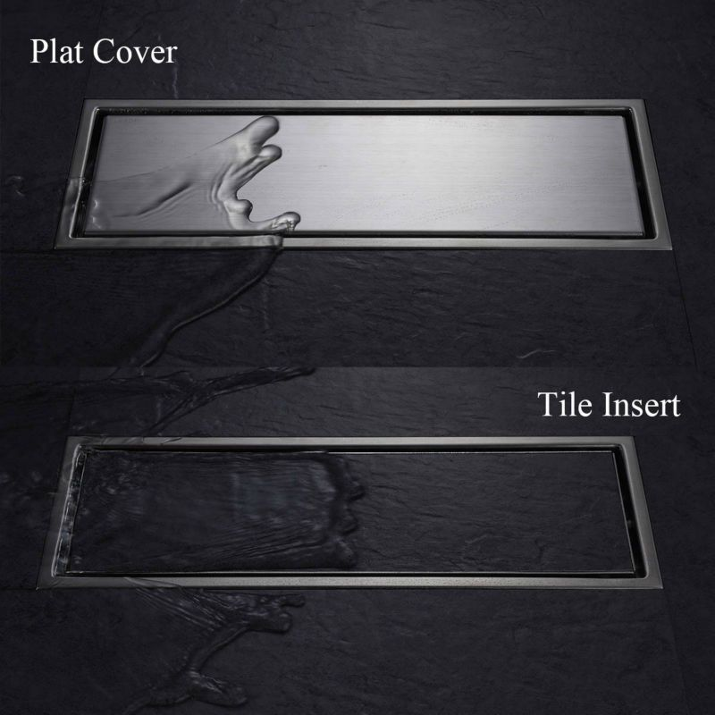 Invisible Tile In Drain 12 Inch Sus 304 Stainless Steel Rustproof With Strainer Shower Drain 11 178 Shower Drain Rain Shower Bathroom Floor Drains