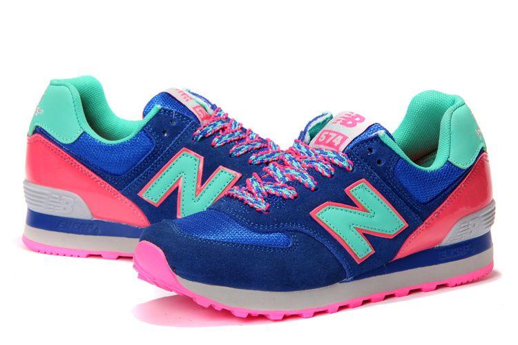 new balance 574 pink blue