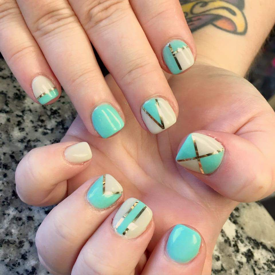 50 Stunning Geometric Nail Art To Make Your Nails Stand Out New