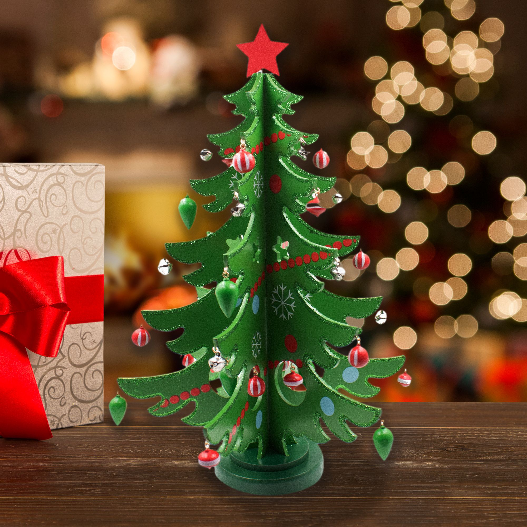 Cute Mini Wooden Tabletop Christmas Tree!