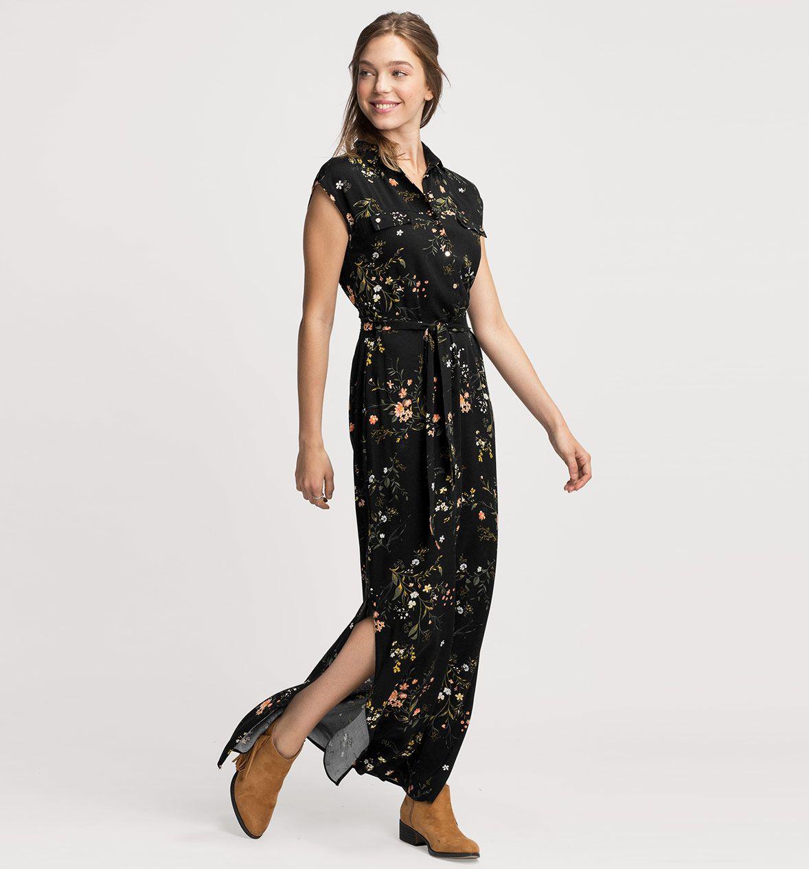 kleid in schwarz | damen mode, mode, angesagte mode
