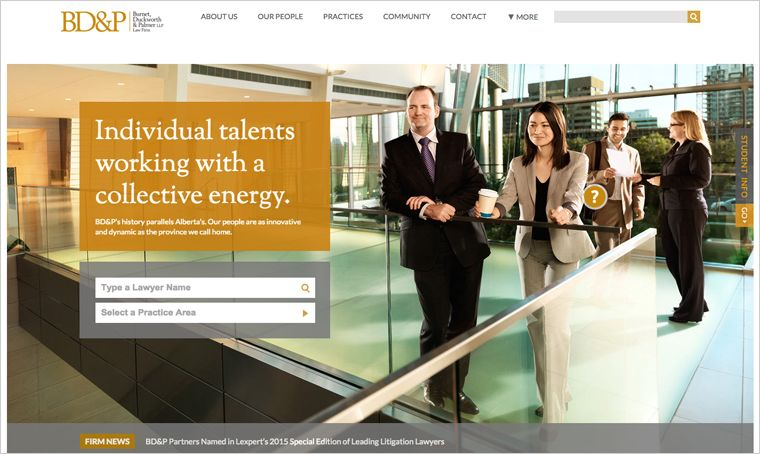 Cheshire Law Group | Interactive design | Lawyer website
