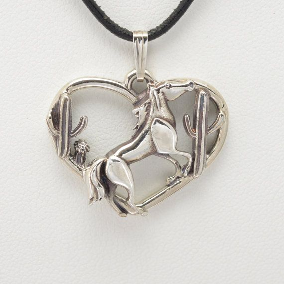 "Sterling Silver Horse Pendant w/18"" Sterling Chain by Donna Pizarro fr her Animal Whimsey Collection of Fine Horse Jewelry"