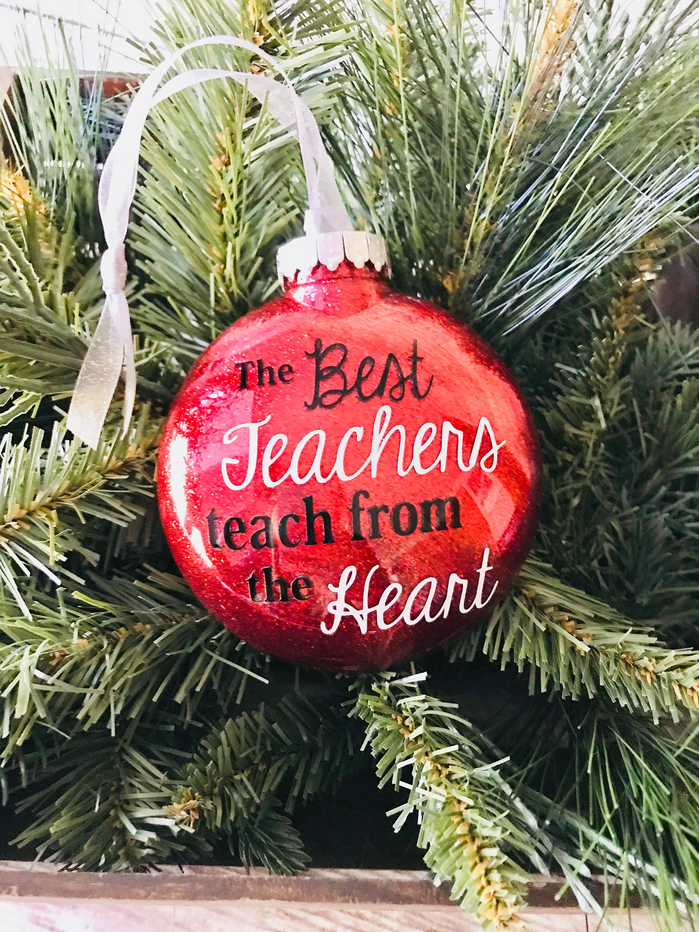 Teacher Ornament Gift For Teacher Christmas Ornament Etsy Teacher Christmas Gifts Teacher Ornaments Diy Teacher Gifts