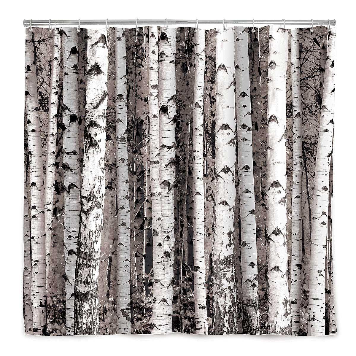 Birch Forest Shower Curtain Tree Decor Bath Accessories Tree