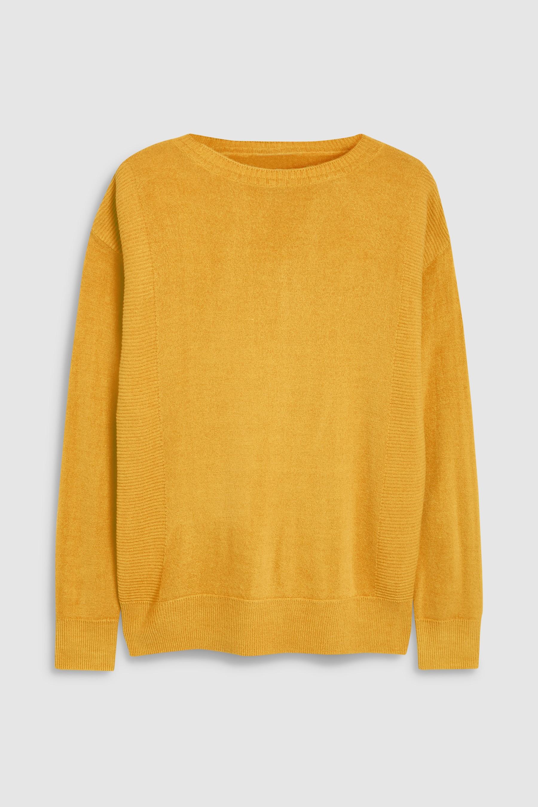 ebcf3cec2411 Womens Next Ochre Cosy Boat Neck Sweater - Yellow
