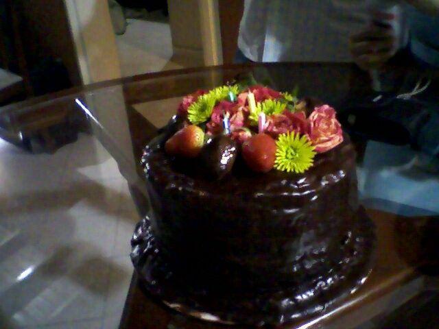 My delicios chocolte cake.