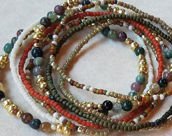 Seed bead bracelet beaded bracelet stretch bracelet beaded | Etsy