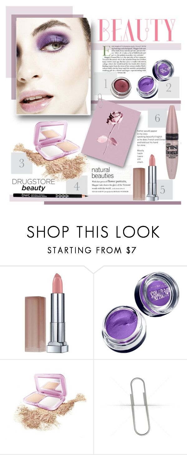 """Violet Spring Beauty"" by vio8leta ❤ liked on Polyvore featuring beauty, Maybelline and drugstorebeauty"