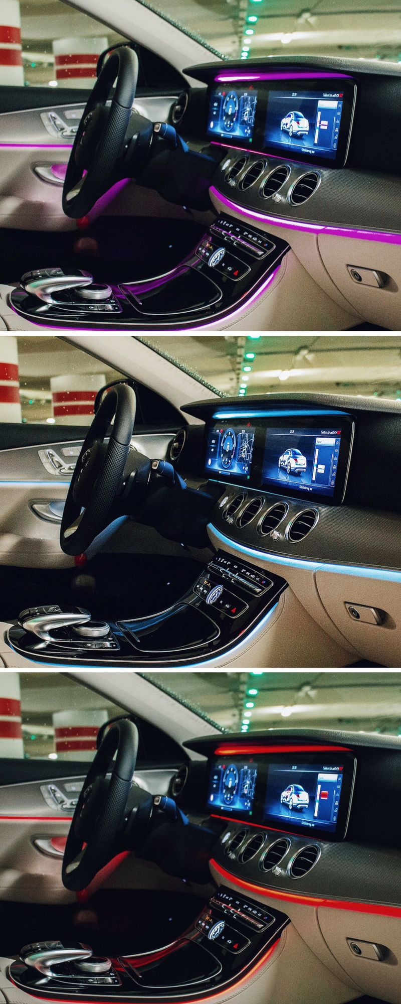 Ambient Lighting In The New Mercedes Benz E Class Choose 1 Out Of