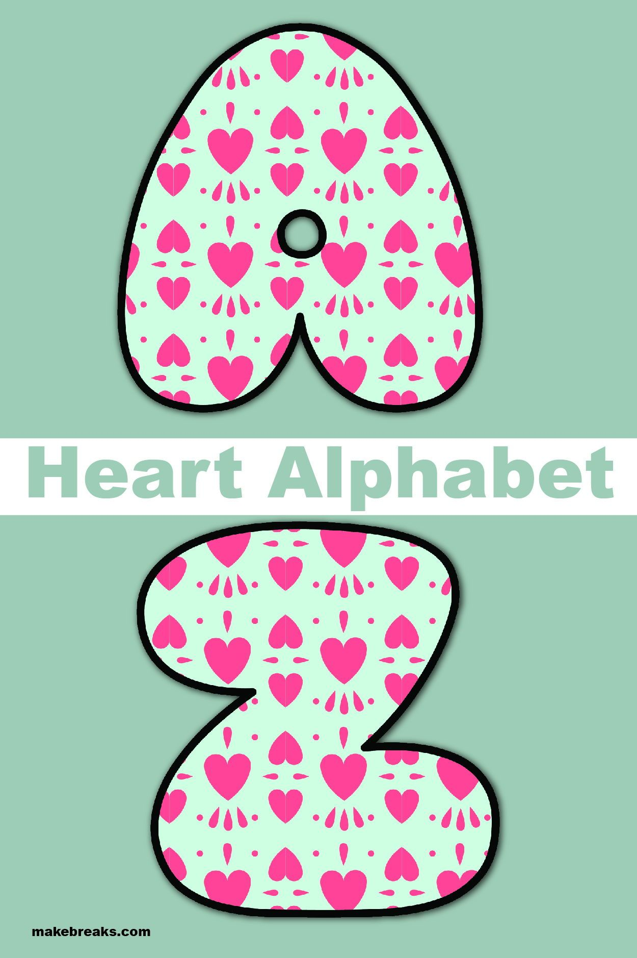 Free Printable Alphabet For Valentine S Day Pattern 1