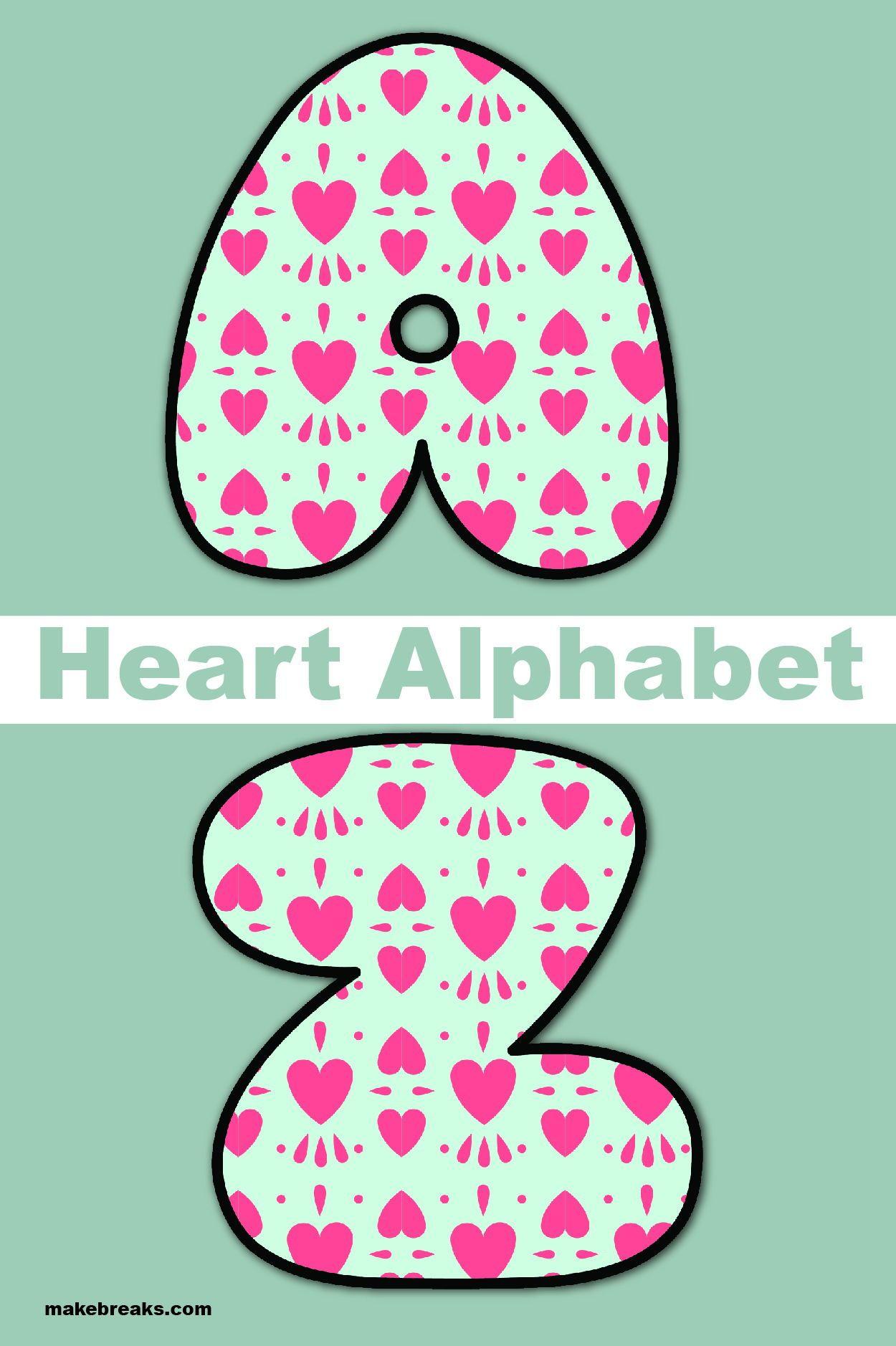 Free Printable Alphabet For Valentine S Day Pattern 1