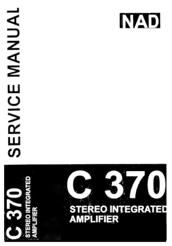 nad c 370 c370 c 370 service manual complete nad service manuals rh pinterest com nad c 370 manual pdf nad c 370 review