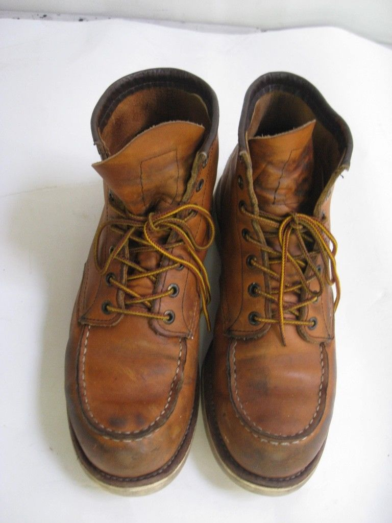 Red wing 10875 traction tred 6 inch boots ankle high size