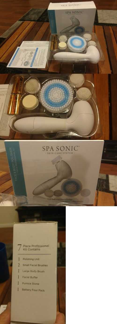 Home Skin Care Devices Spa Sonic Face And Body Polisher Skin Care System 7 Piece Buy It Now Only 33 99 Skin Care Devices Skin Care System Sonic Face