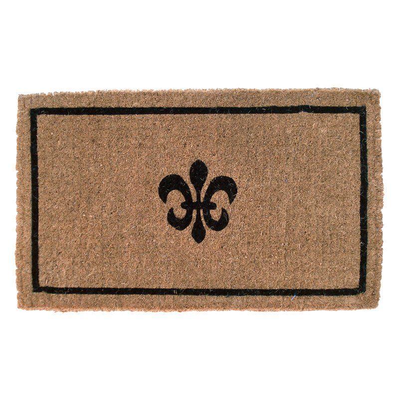 Pin On Door Mats Fleur de lis door mats