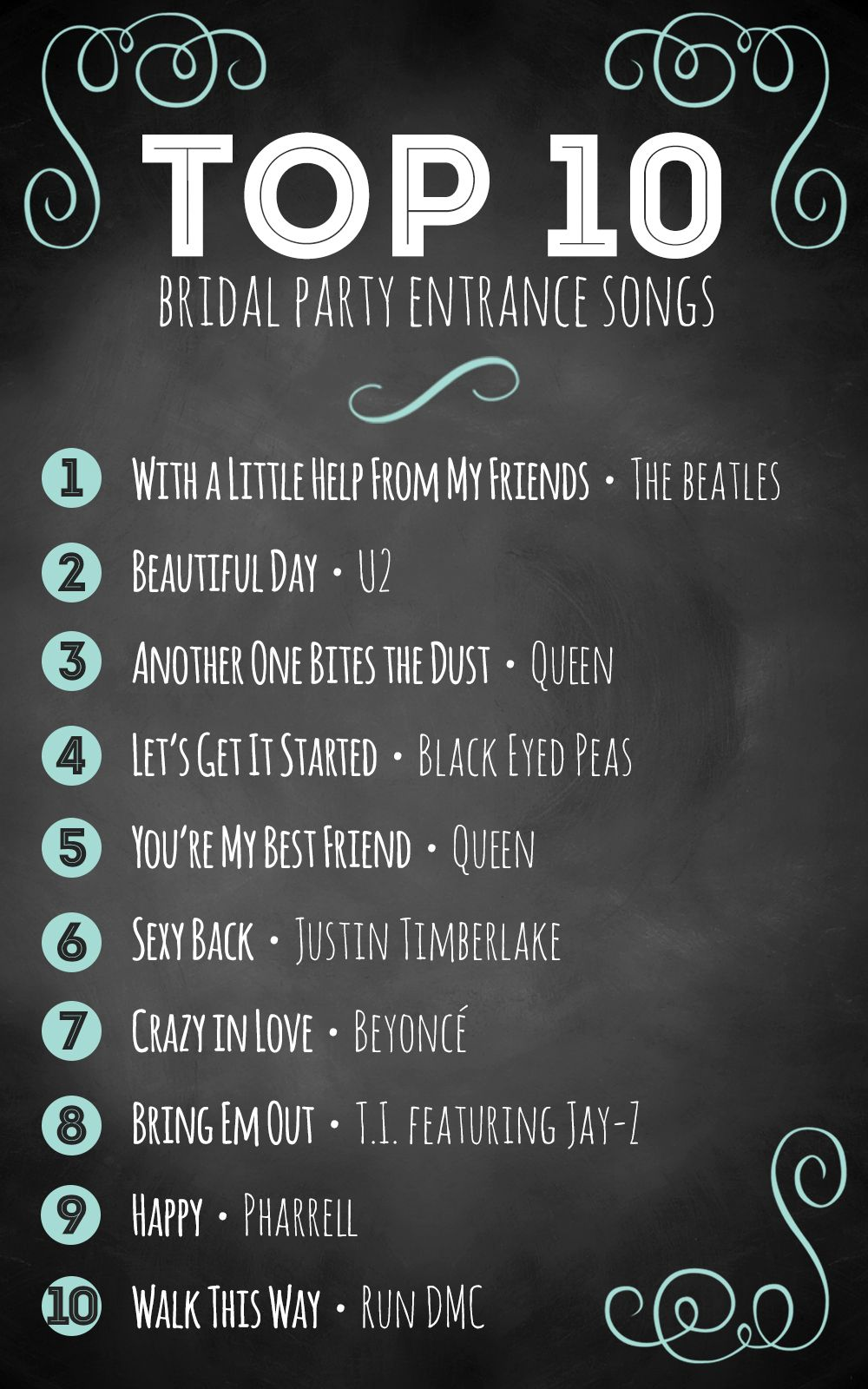 Top 10 bridal party entrance songs Wedding advice Bridal