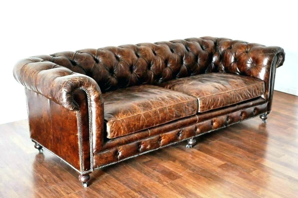 Chesterfield Tufted Sofa Distressed Leather Sofa Tufted Leather Sofa Distressed Leather Couch