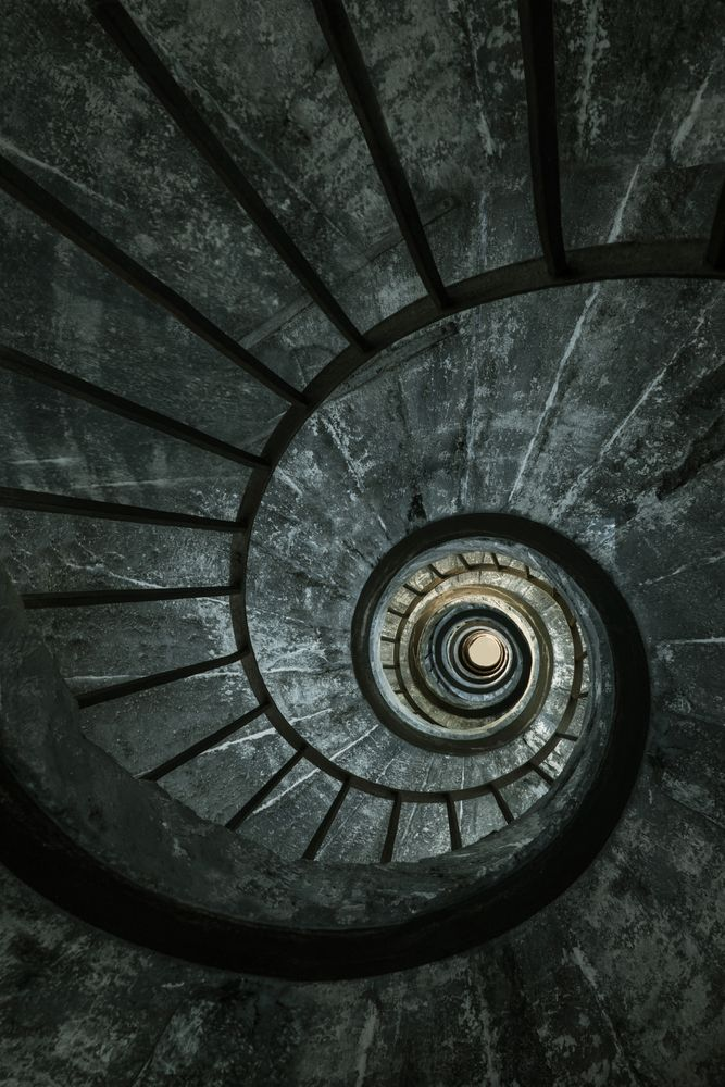 Best Dark Spiral Staircase Mini Art Print By Jablam Without Stand 3 X 4 In 2020 Spiral 400 x 300