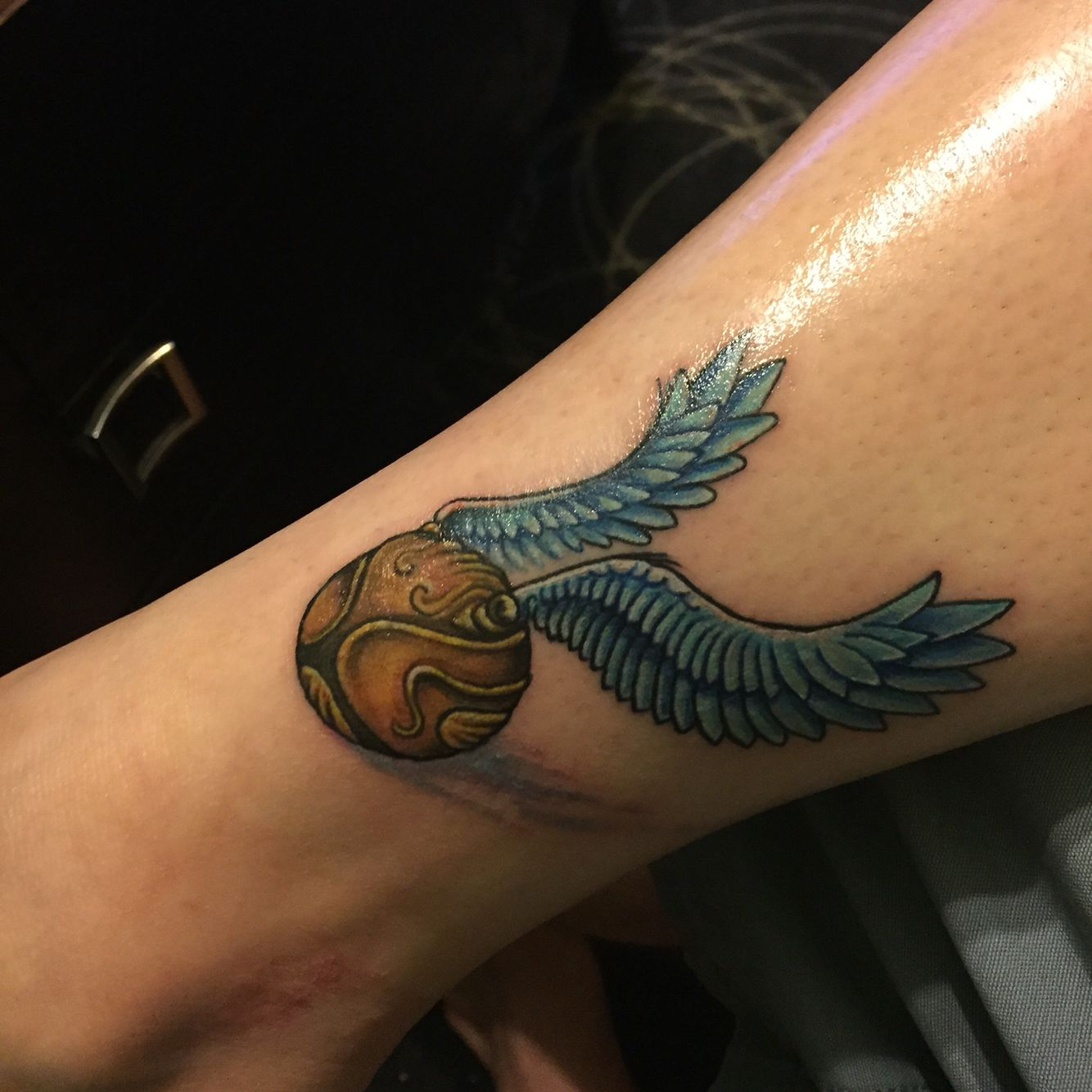 b4e894486c17d Golden snitch tattoo by @meeshac90 at 1001 Troubles Tattoo in Warren ...
