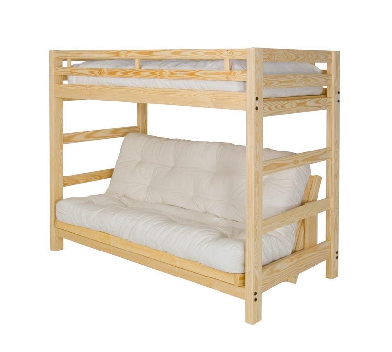 Liberty Futon Bunk Bed Frame Unfinished Solid Wood Ebay With