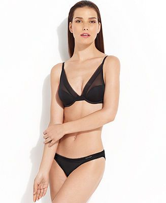Calvin Klein Icon Provocative Plunge Bra and Bikini - Lingerie Sets - Women - Macy's
