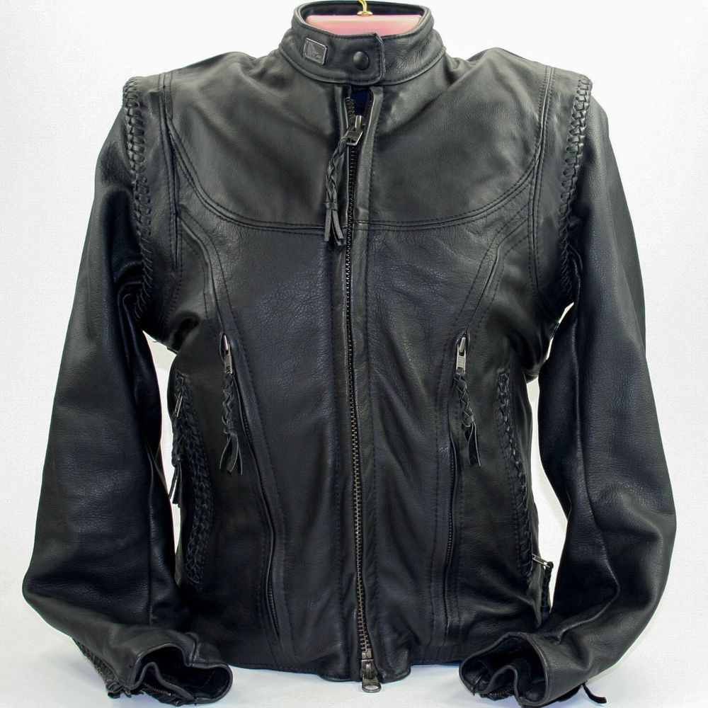 Harley Davidson Leather Riding Jacket Willie G Xs Removable Sleeves Liner Mint Leather Riding Jacket Riding Jacket Jackets For Women [ 1000 x 1000 Pixel ]