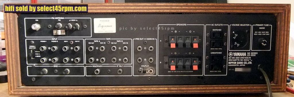1973 YAMAHA CR-1000 RECEIVER **SOLD** - Vintage Hi Fi at select45rpm