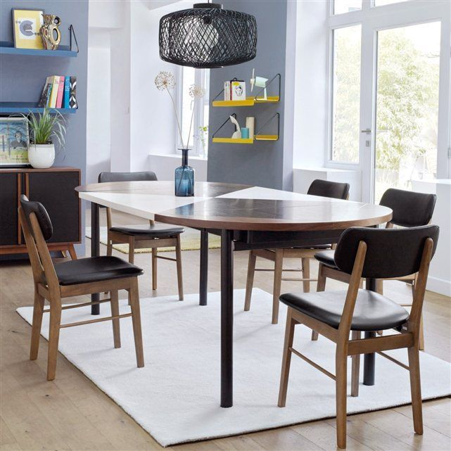 Table rallonges design cr ateur studio pool bensimon ronde ou ovale elle allie convivialit - Table a manger pour studio ...