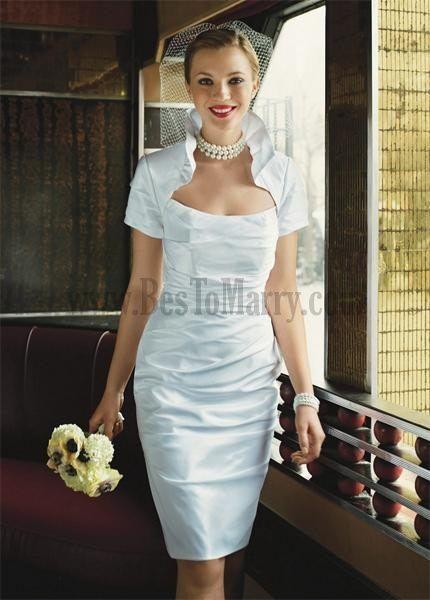 Formal Mini Wedding Dresses Garden Or Outdoor Beach Or Destination ...