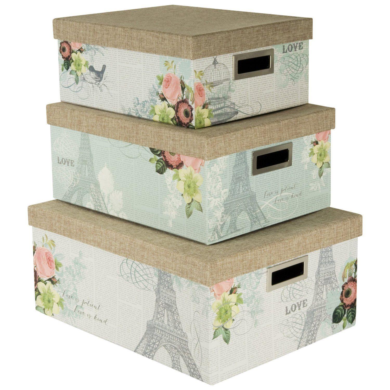 Decorative Boxes Storage Amazon Nested Steamer Box  Storage Box With Burlap Lid Set