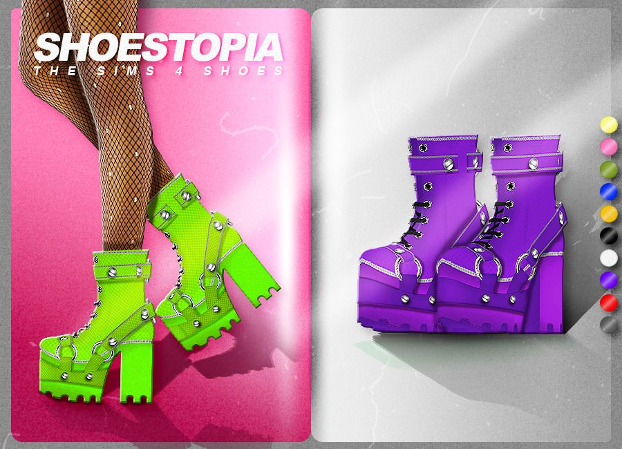 Heavy Boots Shoestopia Shoes For The Sims 4 Shoestopia Sims 4 Anime Sims Sims 4