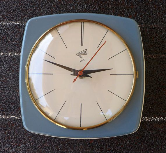 Very Nice Adelco Electrique Vintage All Metal Kitchen Clock