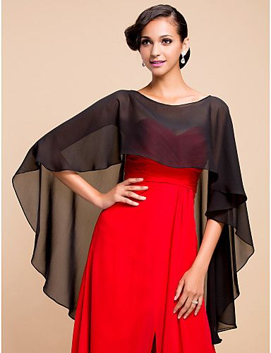e67933ec7dbd0 Elegant Chiffon Evening/Wedding Poncho (More Colors) 2016 - $14.99 ...