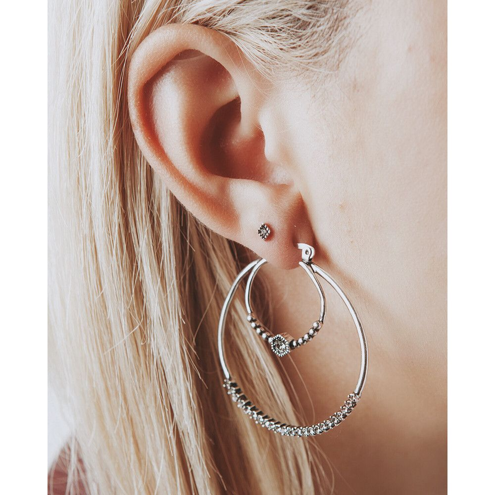 and pin amalfi bling aj earrings silver luv hoops tube