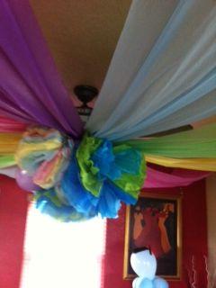Graduation Party Decorations Ceiling Fan Decoration Rainbow