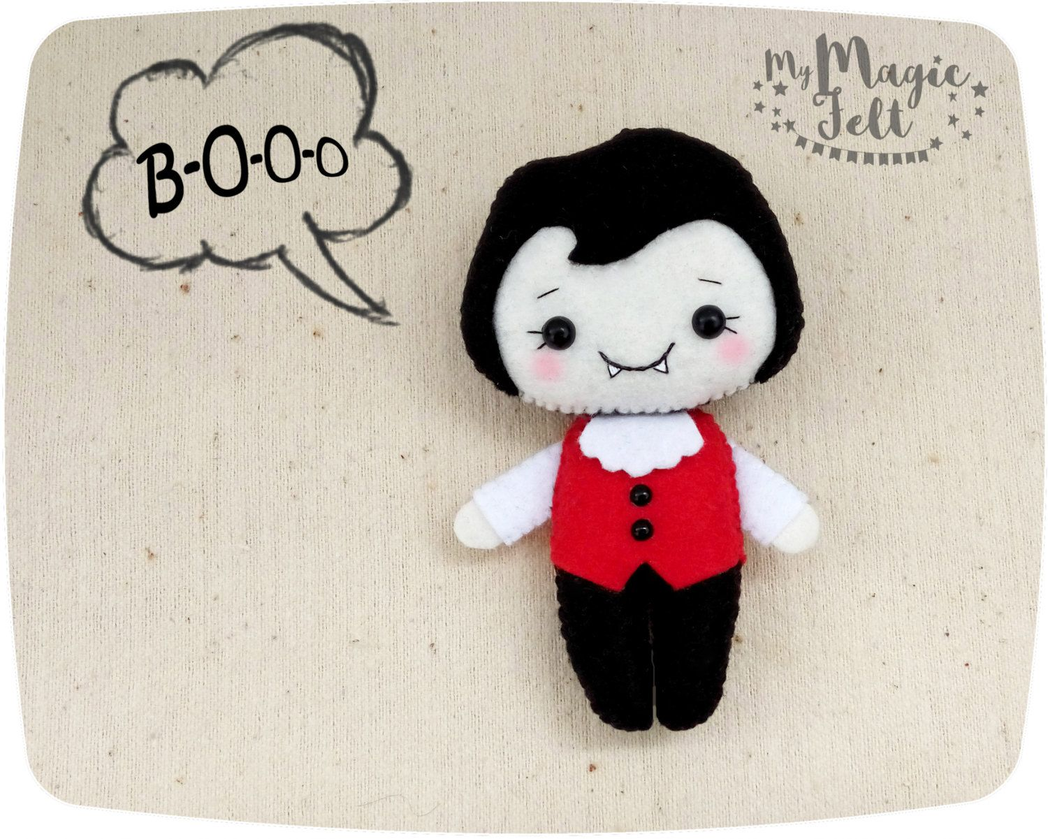 halloween felt ornament dracula halloween decor cute felt halloween gift vampire halloween decorations party favors felt - Vampire Halloween Decorations