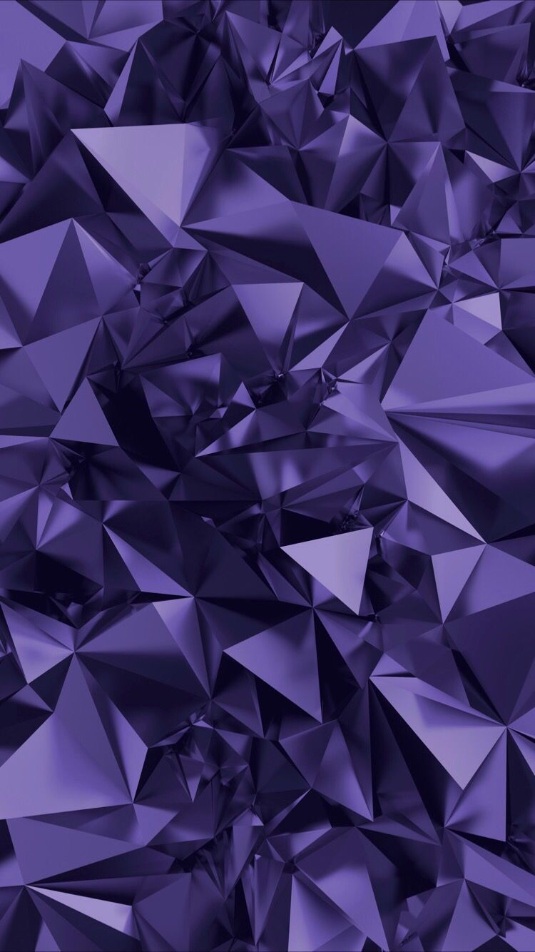3d Crystals Wallpaper For Your Iphone 7 From Everpix Purple