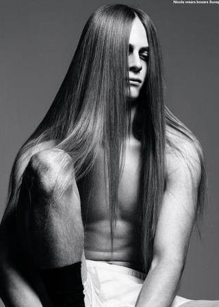 Elegant silky hair.
