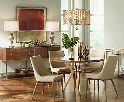 Contemporary Dining Room Light Glamorous Midcentury Style With A Glamorous Gold Finish Pendant Light Review