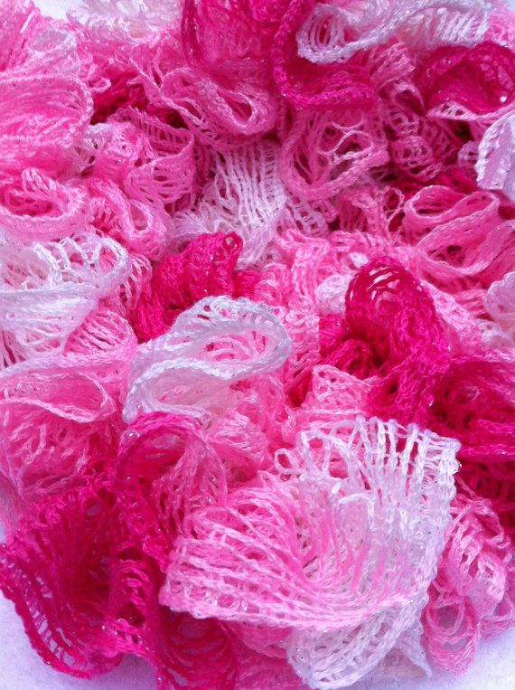 Pink and White Crocheted Sashay Scarf {Breast Cancer Awareness ...