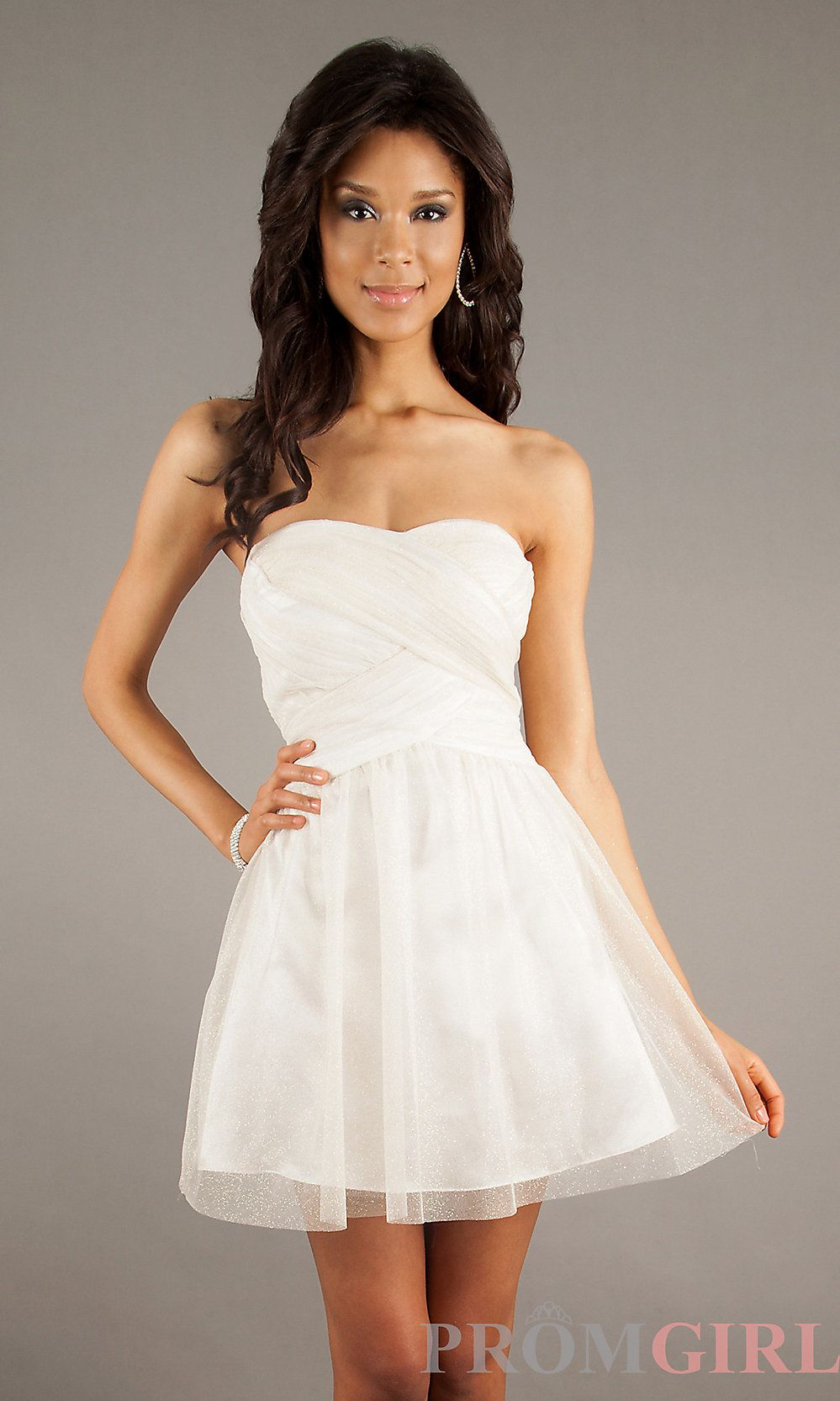 Search for mome styles strapless short wedding dress at low price