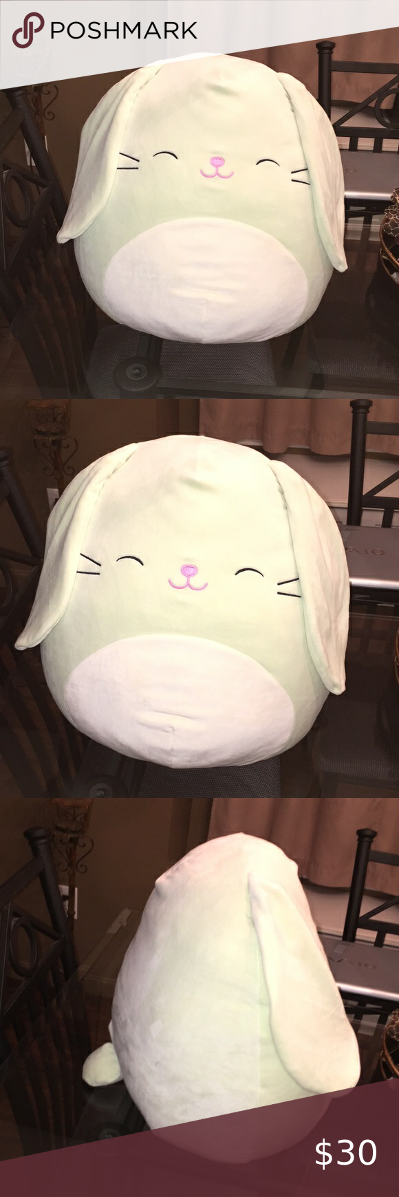 Squishmallow Isabella Mint Bunny Large Size Plush In 2020 Plush Large Size Things To Sell