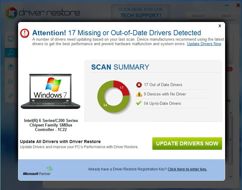 Download Driver restore to scan your PC to find out of date, missing