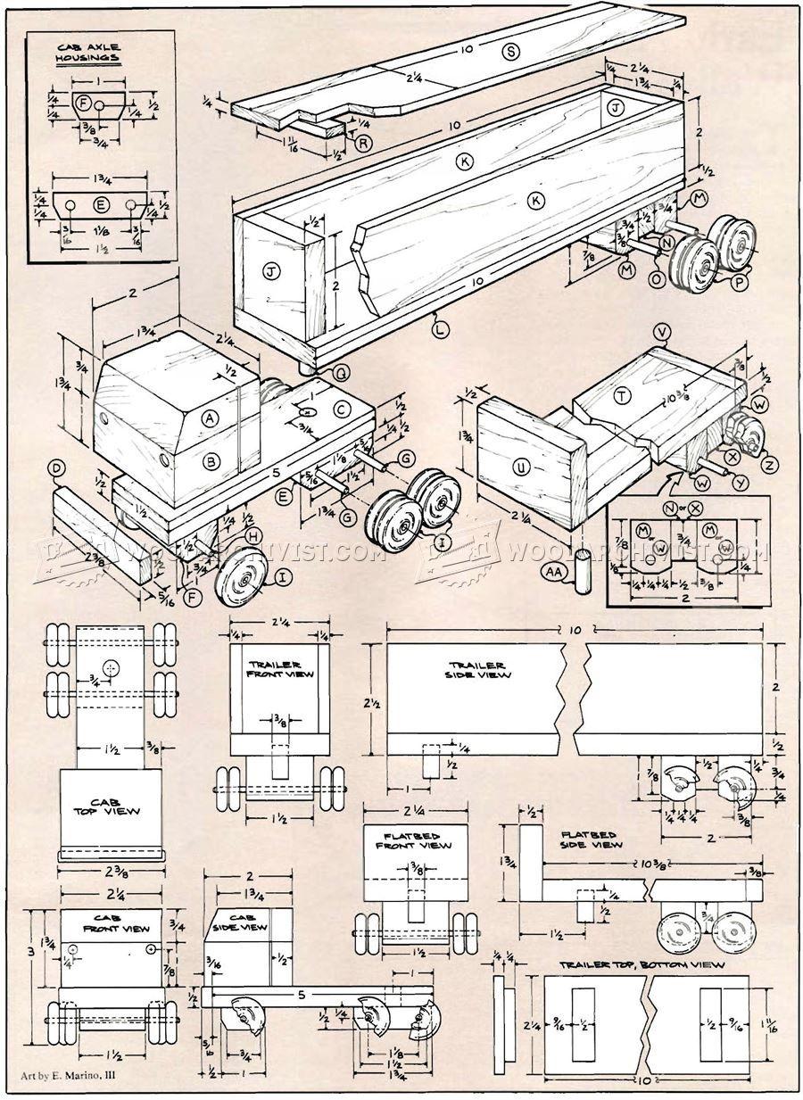 3063 planuri de camioane din lemn jucărie - planuri de lemn