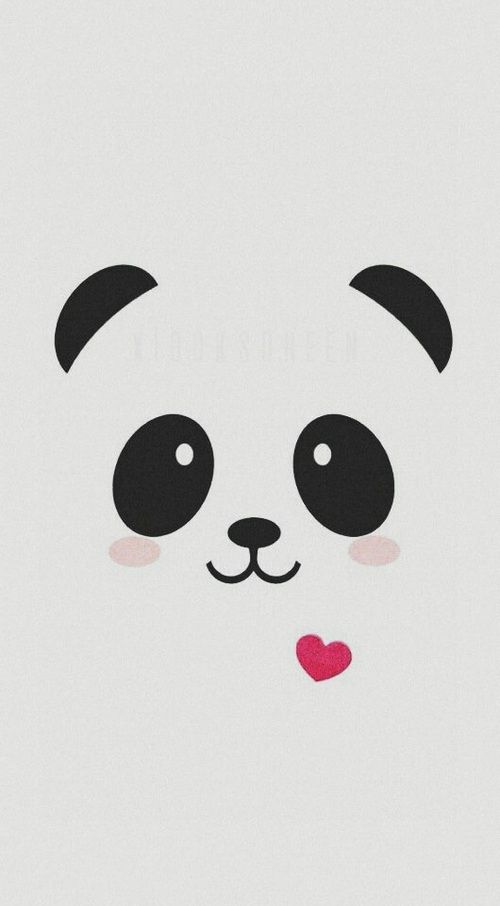 Find More On Clemtoon555 S Pinterest Cute Panda Drawing Cute Panda Wallpaper Cute Black Wallpaper