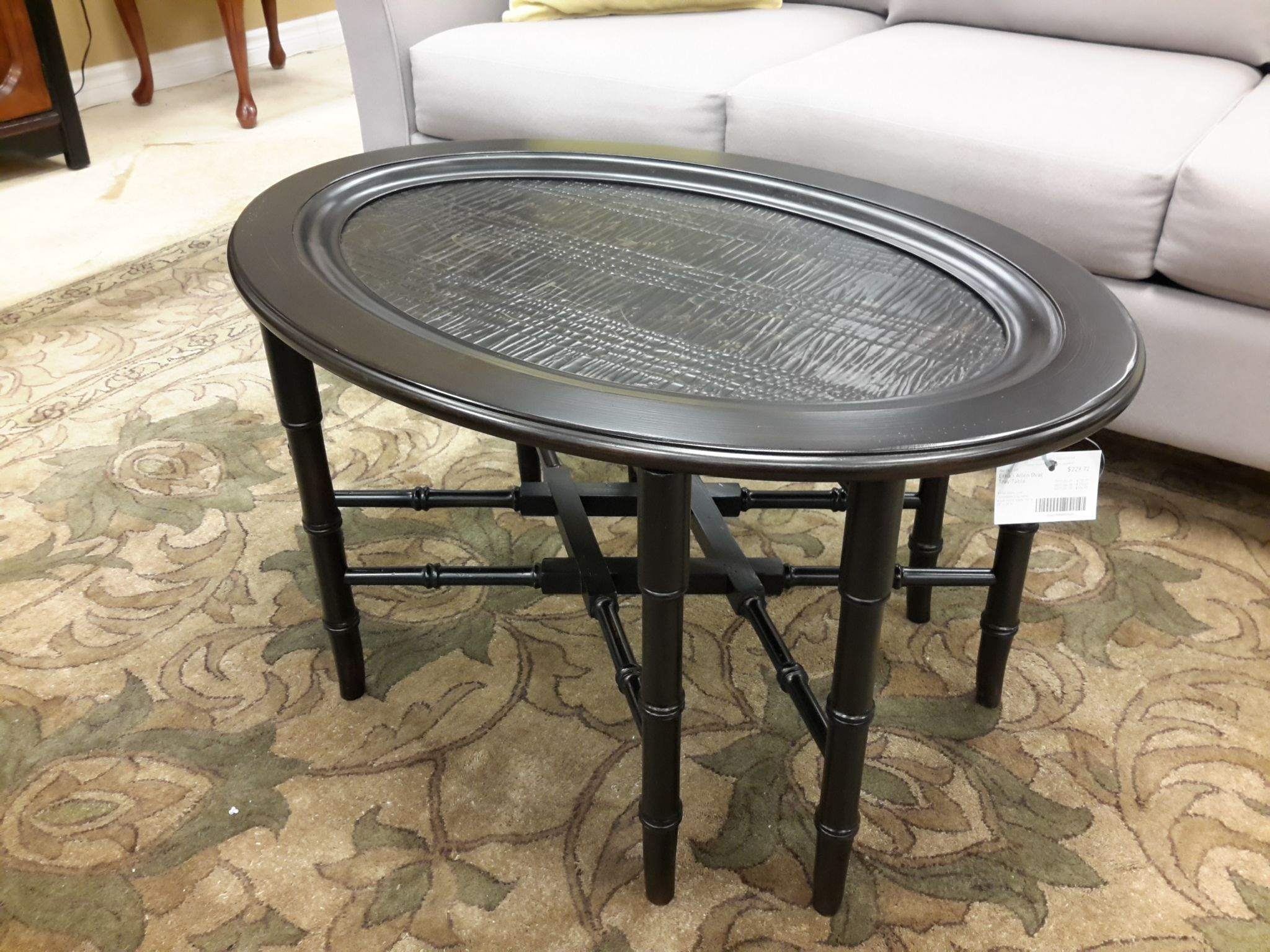 ethan allen oval tray table the millionaire u0027s daughter