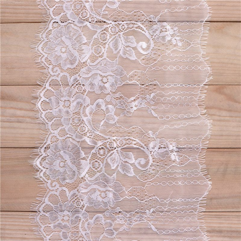 240mm wide white eyelash lace ribbon garments accessories lace trim decoration wedding dress home decor sewing supplies trimming, contact BDJIN@FOXMAIL.COM for more details