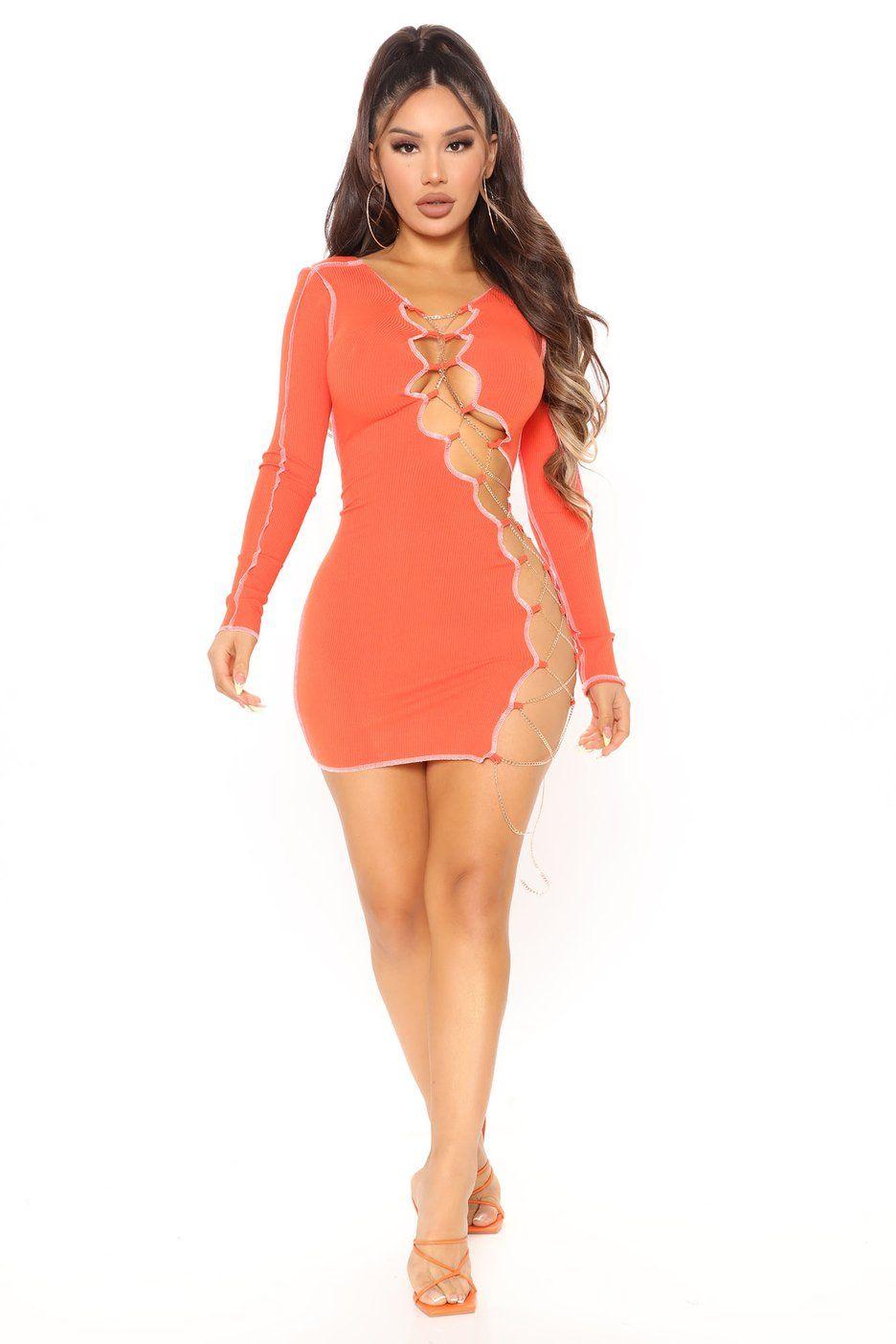 Chain Me Down Mini Dress Orange Dresses Fashion Nova In 2021 Mini Dress Fashion Hacks Clothes Fashion [ 1404 x 936 Pixel ]