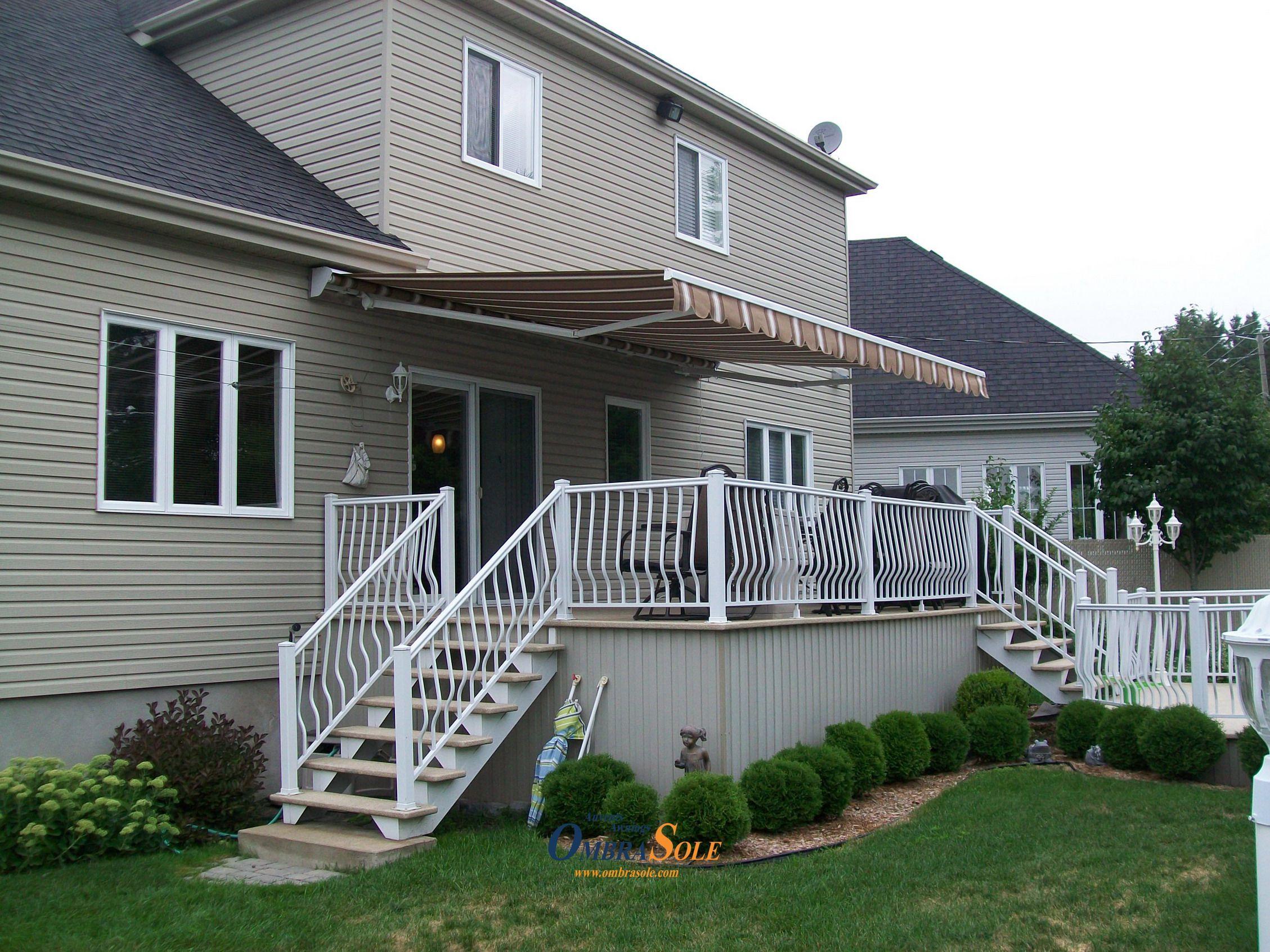 backyard patio retractable motorized awning fixed retractable